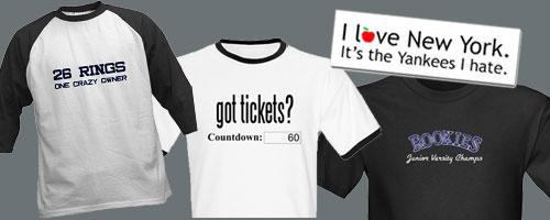 I love NY. It's the Yankees I hate. t-shirts