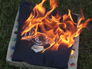 I burned my Tampa Bay Rays shirt because I hate the Rays