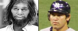 Johnny Damon looks like the Geico Caveman