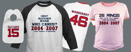Boston Red Sox team and player t-shirts